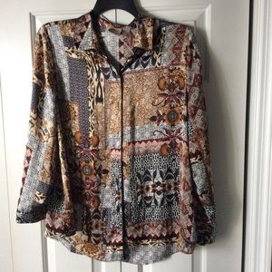 Chico's size 2 brown print top